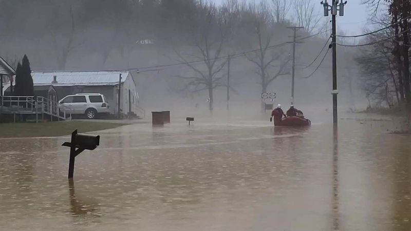 Water rescue in Boyd County after heavy rains cause flash floods