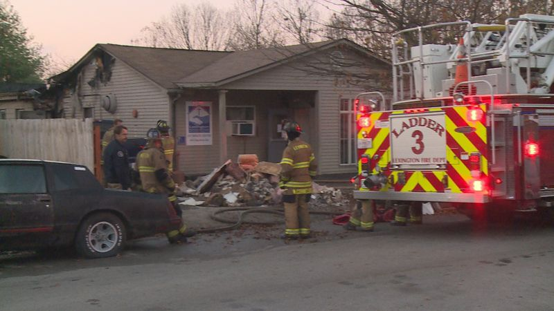 Firefighters are working to figure out what started a fire at the Lexington Rescue Mission.