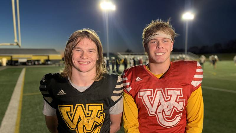 Woodford County stars Jackson Geilear and Bryce Patterson.