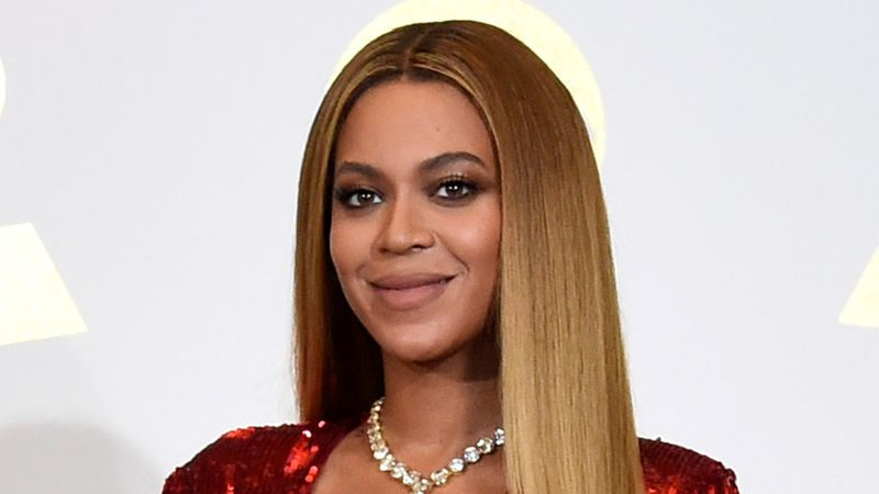 In this Feb. 12, 2017 file photo, Beyonce poses in the press room at the 59th annual Grammy...