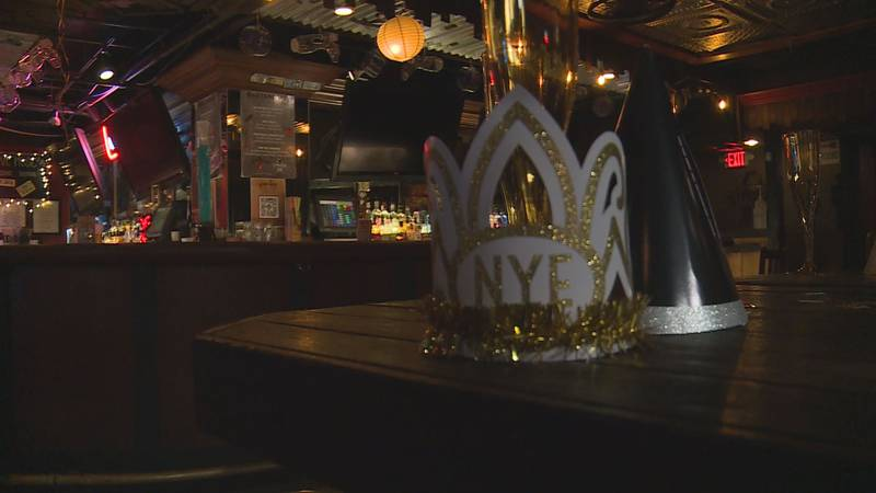 New Year's Eve decorations were left largely untouched at Stagger Inn after evacuations from a...