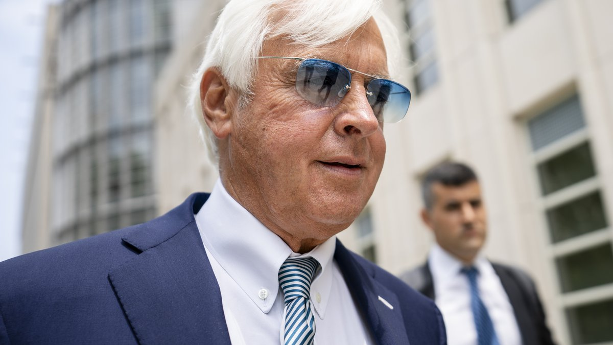In this Monday July 12, 2021 file photo, horse trainer Bob Baffert leaves federal court in the...