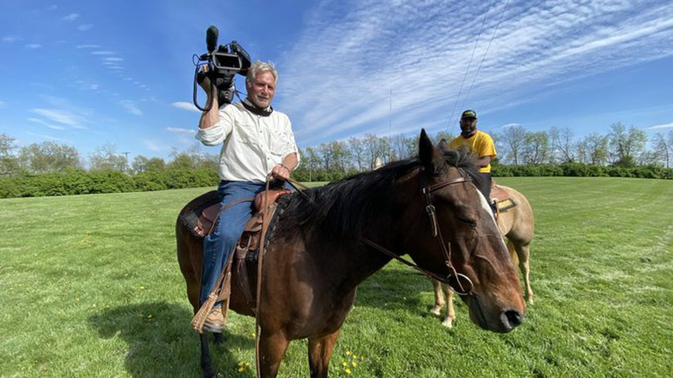 Horseback riding is Harv's favorite hobby, and starting next week, he'll put the camera down...