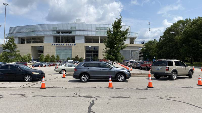 At the Kroger Field testing site, they are seeing nearly 10 times the appointments than they...