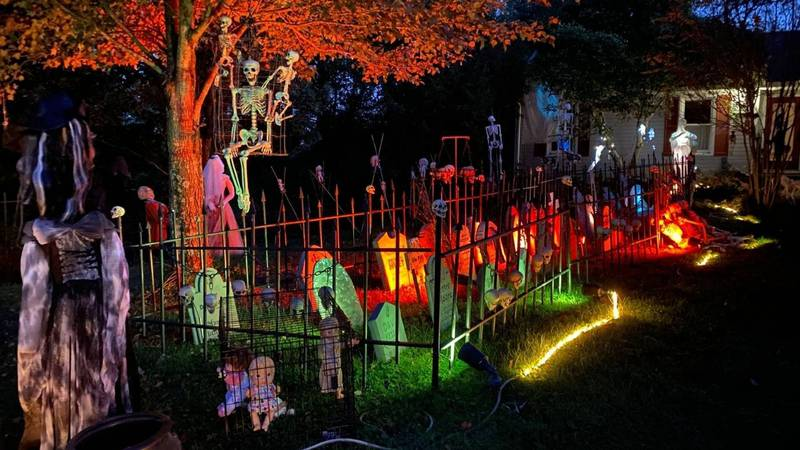 Halloween decorations are on display for KFTC's Haunted Garden Tour.