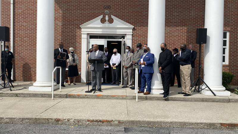 Black faith leaders in Lexington continue to call on city leaders to permanently ban no-knock...