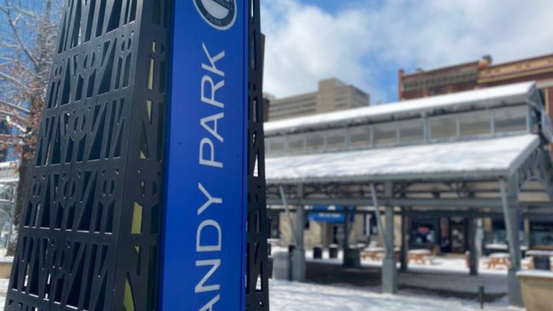 Henry A. Tandy Centennial Park, formerly known as Cheapside, has new signs.