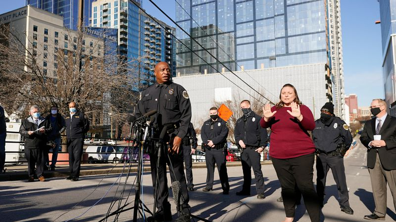 Nashville Chief of Police John Drake speaks at a news conference Sunday, Dec. 27, 2020, in...