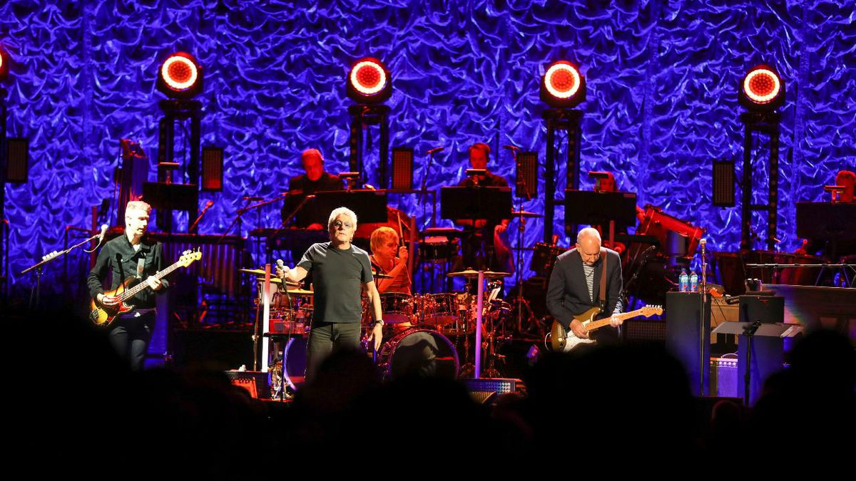 Roger Daltrey and Pete Townshend with The Who performs during the Moving On! Tour at State Farm Arena on Wednesday, September 18, 2019, in Atlanta. (Photo by Robb Cohen/Invision/AP)