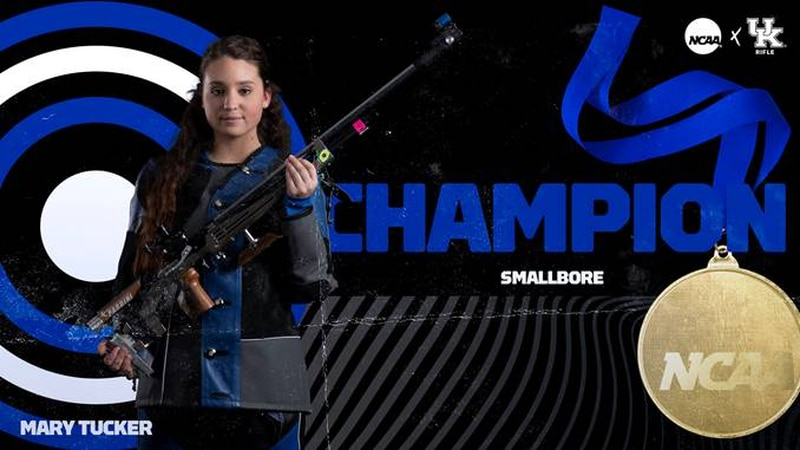 Tucker Wins NCAA Smallbore Championship; Cats First After Day One
