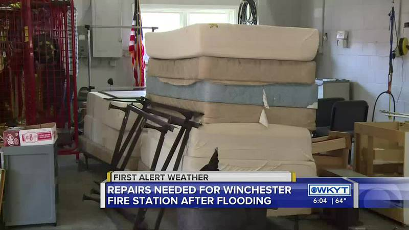 Firefighters in Winchester are working out of one station while crews fix a station that...