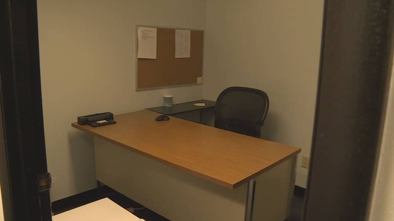 An empty office as COVID-19 forced many employers to send workers home.