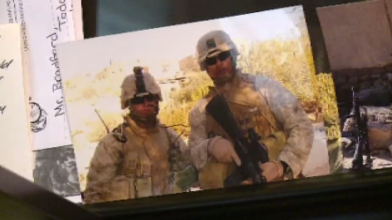 A former marine who was injured in battle is opening up about Thursday's bombing.