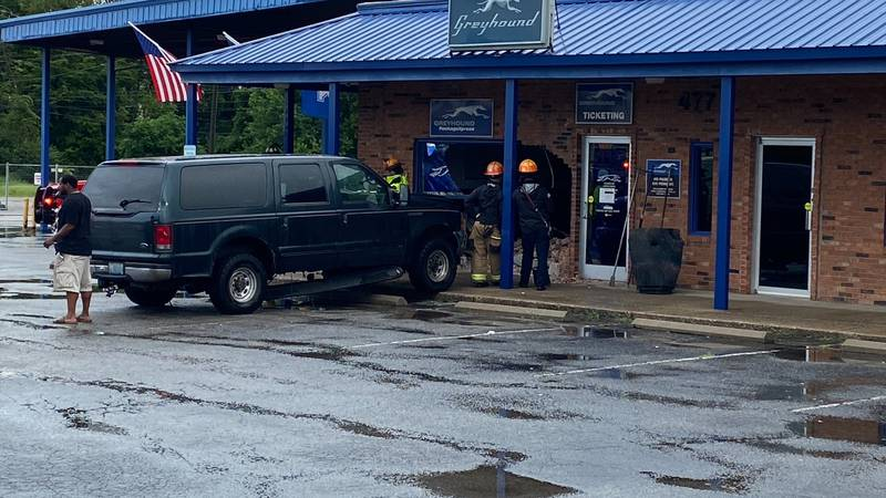 It happened Tuesday morning at the Greyhound bus station on West New Circle, near Russell Cave...