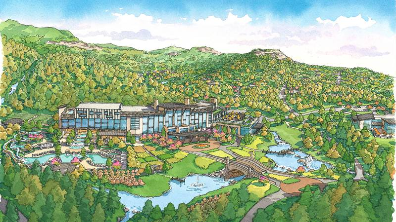 Proposed plan for the Red River Gorge Resort.