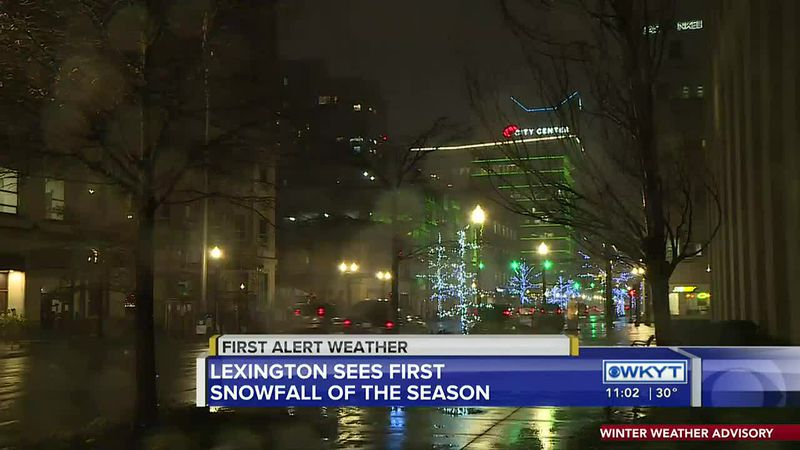 Drivers navigate slick roads during first snowfall of the season