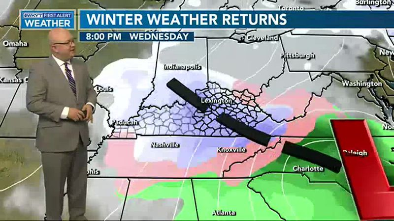 Another round of wintry weather will move across Kentucky