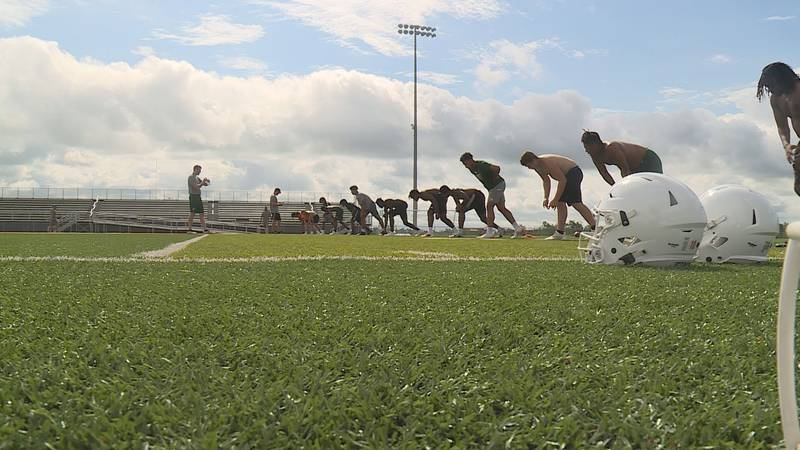 High school football practice opened up on July 12.