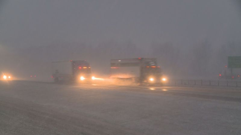 Road crews spent much of Sunday preparing for the possibility of winter weather.