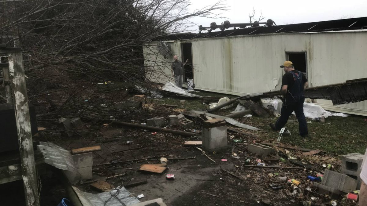 The National Weather Service says they will be visiting Madison and Clark Counties to survey damage from storms. (Source: Ruth Culton.)