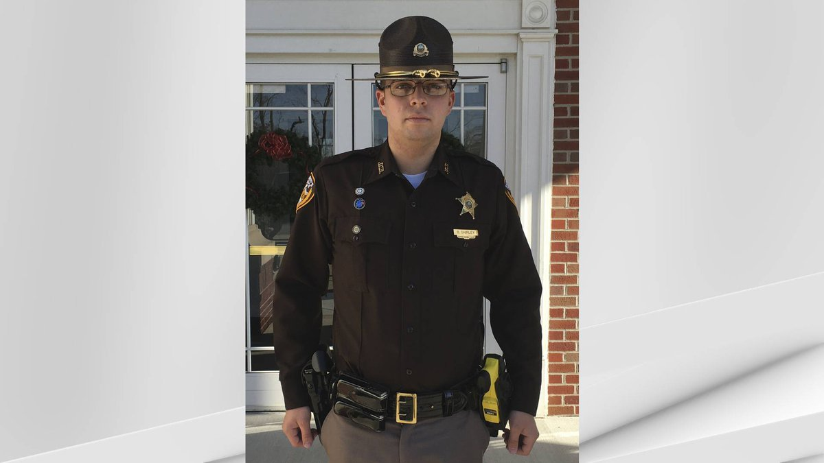 Police said the deputy, identified as Brandon Shirley, 26, was in uniform inside of his...