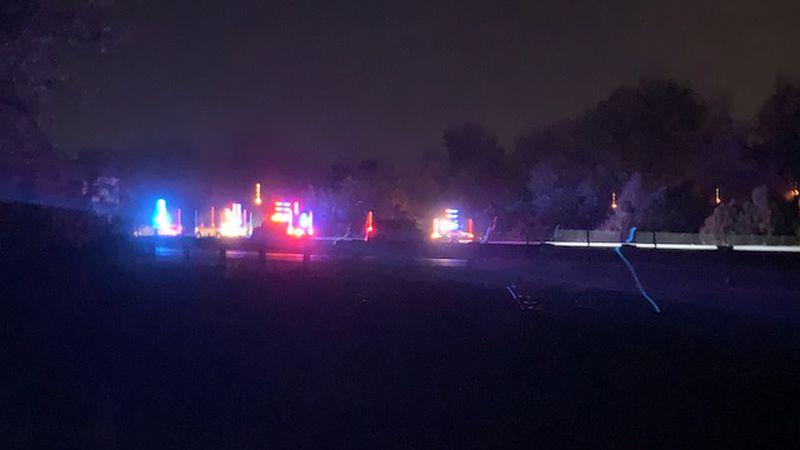 Crews respond to a crash on New Circle Road.