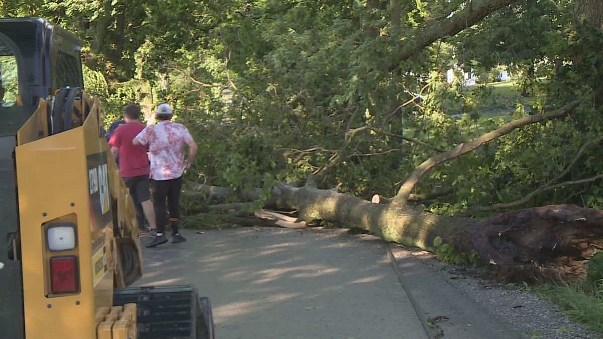 Much of central Kentucky dealt with storm damage Wednesday evening.
