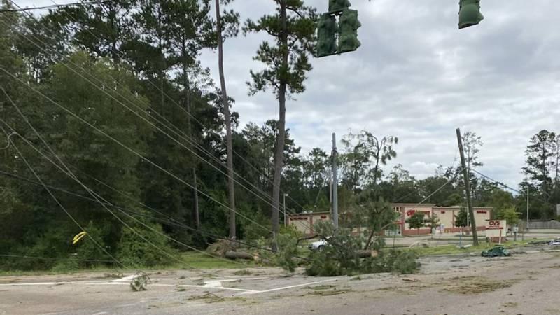 Damage from Hurricane Ida in Mandeville, Louisiana