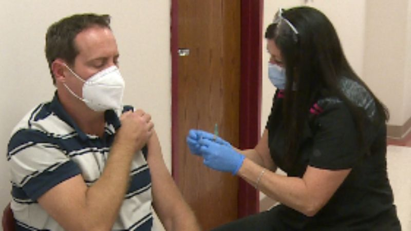 First responders and nursing home staff in southern Kentucky are receiving the COVID-19 vaccine...