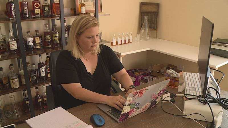 Ashley Barnes operates an international business out of her home in Harrodsburg.