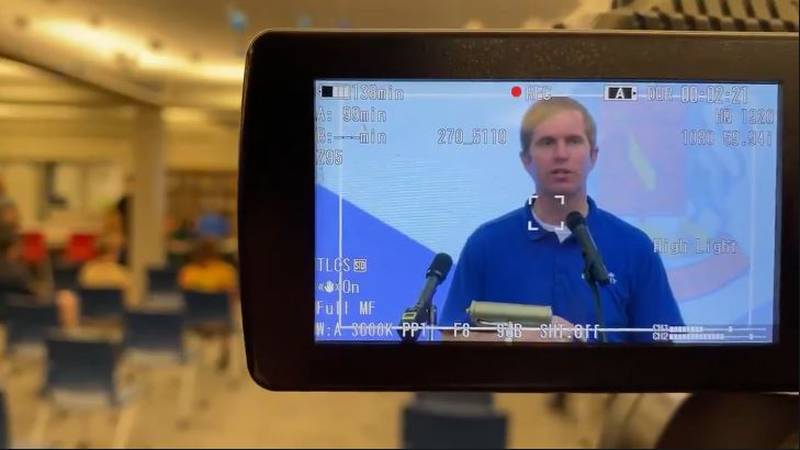 Gov. Andy Beshear was in Lexington Tuesday morning. He visited the vaccination clinic at...