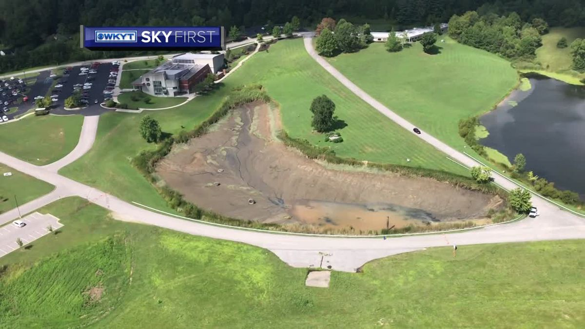 Officials are trying to figure out why a pond in Laurel County drained overnight. (WKYT)