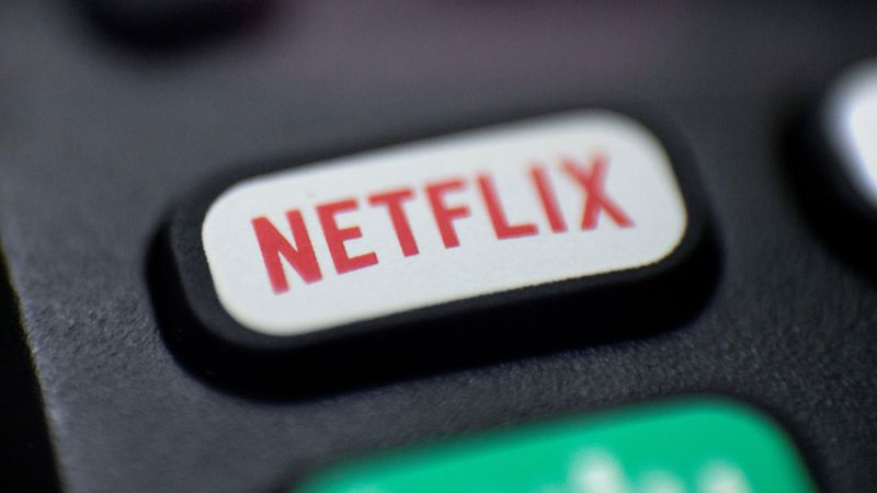 This Aug. 13, 2020  photo shows a logo for Netflix on a remote control in Portland, Ore....