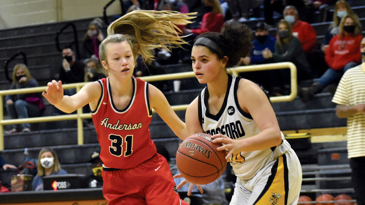 Anderson County rolls past Woodford County.
