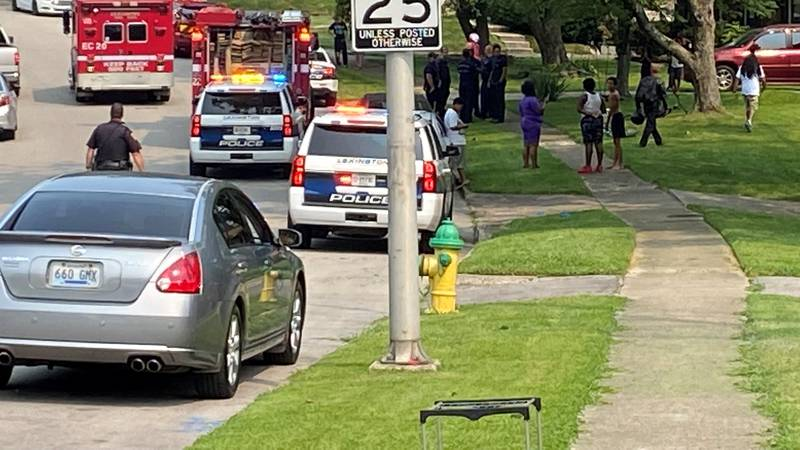 It happened Tuesday morning on Lancelot Lane, near Lansdowne Drive and Wilson Downing Road.