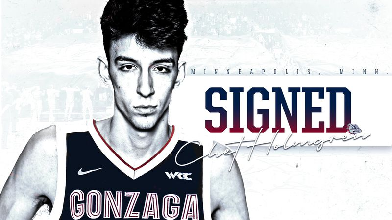 Top recruit Chet Holmgren headed to Gonzaga.