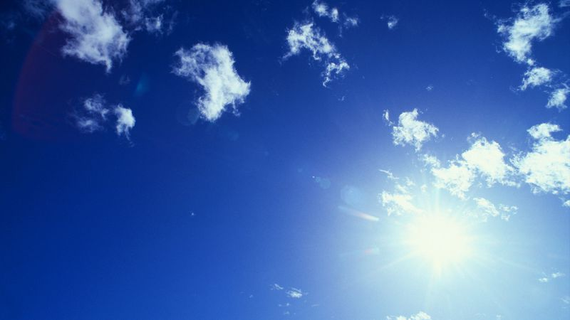 Sun and Cirrus Clouds --- Image by � Royalty-Free/Corbis
