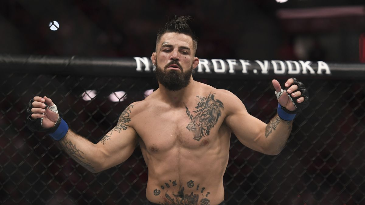 Mike Perry during a welterweight bout at UFC Fight Night held at The BB&T Center on April 27, 2019 in Sunrise, Florida.